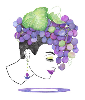 Grape Girl Print by Harumo Bakery