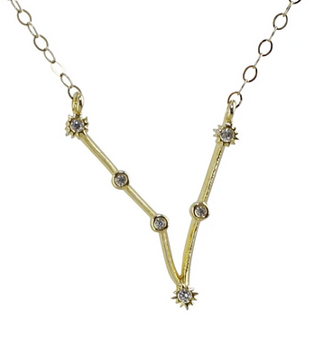 Gold Pisces Constellation Necklace by Thesis of Alexandria