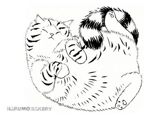 Fluffy Cat Print by Harumo Bakery