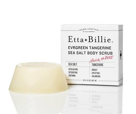 Organic Evergreen Tangerine Sea Salt Scrub by Etta + Billie