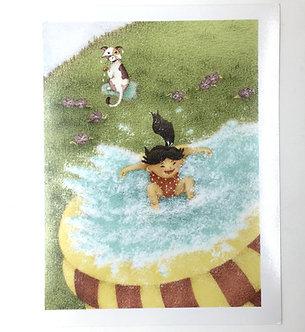 Kid Splash Print by Ria Art