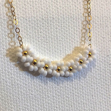 Daisy Chain Necklace by Petite Sunflower Shop