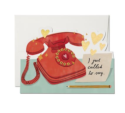 Just Called Card by Red Cap Cards