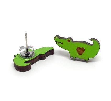 Cute Crocodile Earrings by Unpossible Cuts
