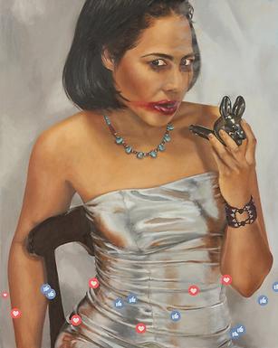 """I live for your likes"" Print by Erika Gómez Henao"