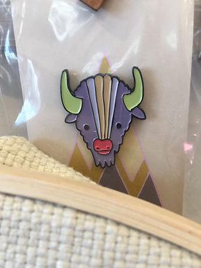 Buffalo Enamel Pin by Mark Poulin