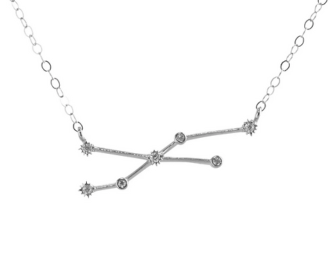 Silver Taurus Constellation Necklace by Thesis of Alexandria