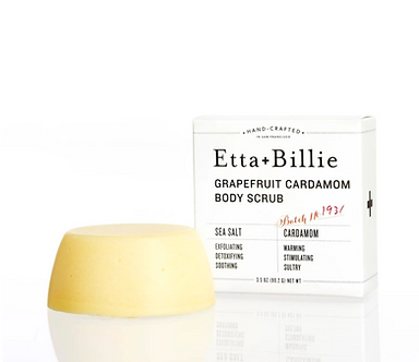 Organic Grapefruit Cardamom Sea Salt Scrub by Etta + Billie