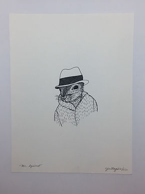 Mr. Squirrel Print by Jen Meyer