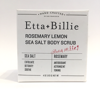 Rosemary Lemon Sea Salt Body Scrub by Etta + Billie