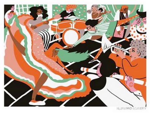 Dance Print by Harumo Sato