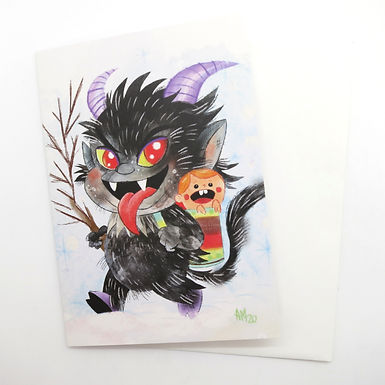 Holiday Krampus Card by Aidan Monahan
