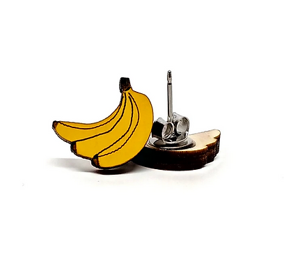 Banana Earrings by Unpossible Cuts
