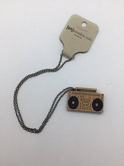 Boombox Necklace by Unpossible Cuts