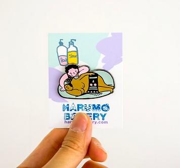 We Love Massage Pin by Harumo Bakery