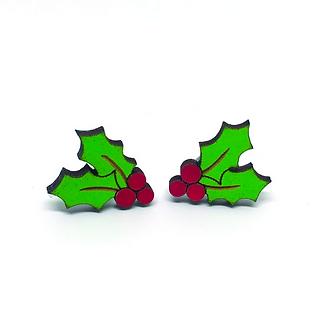 Holly Earrings by Unpossible Cuts