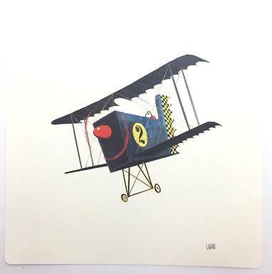 Blue Plane Print by Timothy Lamb