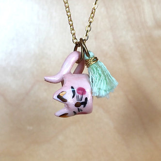 Kitty Mug Necklace by Dawning Collective