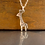 Thumbnail: Little Giraffe Necklace by Mark Poulin