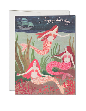 Mermaids Birthday Card by Red Cap Cards