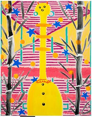 Space Giraffe/Qillin Print by Harumo Sato