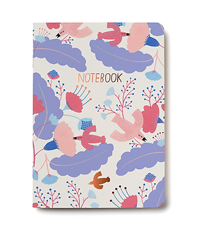 Candy Birds Unlined Notebook by Red Cap Cards