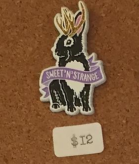 """Sweet 'n' Strange."" Jackalope Pin by Band of Weirdos"