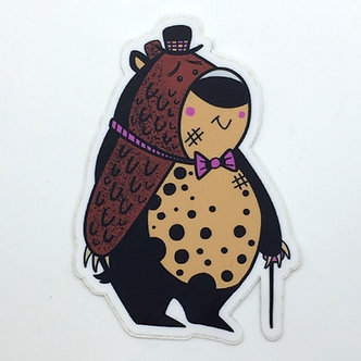 Bear Sticker by Aidan Monahan