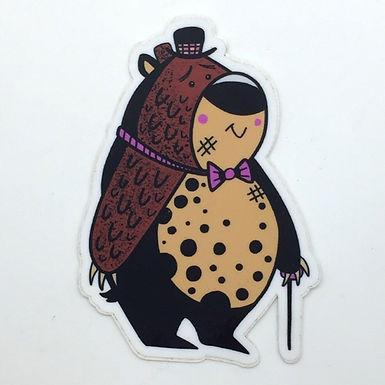 Bear Sticker by Aidan Monahan