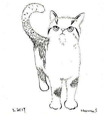 Demandy Cat Print by Harumo Sato