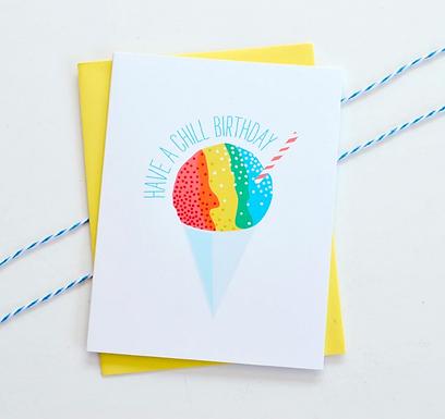 Snow Cone Birthday Card by Pennie Post
