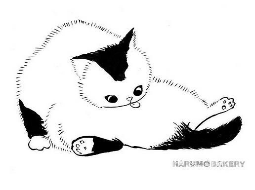 Licky Cat Print by Harumo Bakery