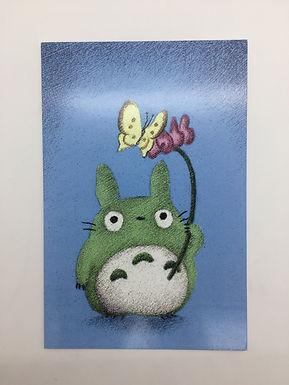 Totoro Butterfly Print by Ria Art