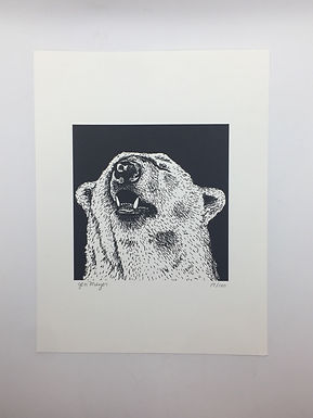 Polar Bear Print by Jen Meyer
