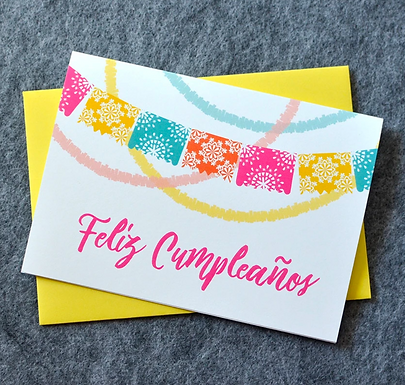 Feliz Cumpleaños Fiesta Birthday Card by Pennie Post