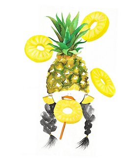 Pineapple Girl Print by Harumo Bakery