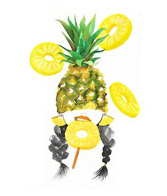 Pineapple Girl Print by Harumo Bakery