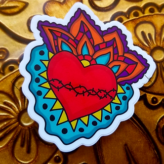 Milagro Corazon Sticker by Citlali Rose