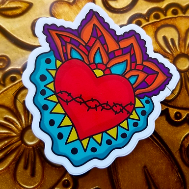 Milagro Corazon Sticker by Citlali Rose