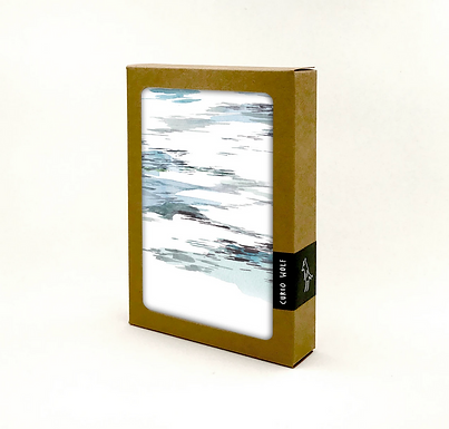 Boxed Set of 8 Riverbed Greeting Cards by Curio Wolf