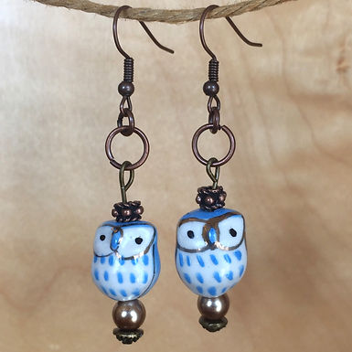 Owl Earrings by Biggest Little Earring Shop