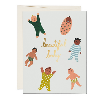 Beautiful Baby Card by Red Cap Cards