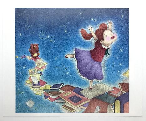 Fun Reading Journey Print by Ria Art
