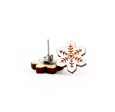 White Snowflake Earrings by Unpossible Cuts