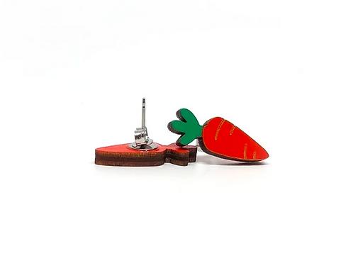 Carrots Earrings by Unpossible Cuts