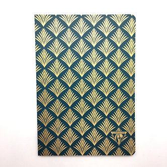 Green and Gold Art Deco (A5 Lined) Notebook by Clairefontaine