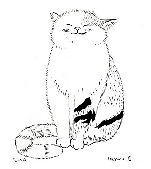 Sunny Cat Print by Harumo Sato