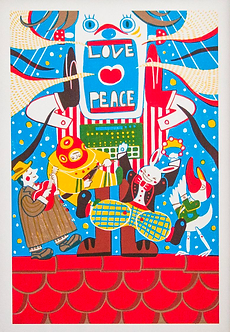 Love and Peace Print by Harumo Bakery