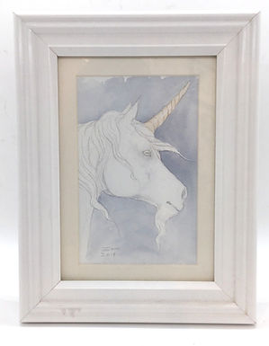 Unicorn Original Framed Watercolor by Emily Hare