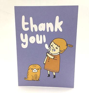 """Thank You!"" Card by Gemma Correll"